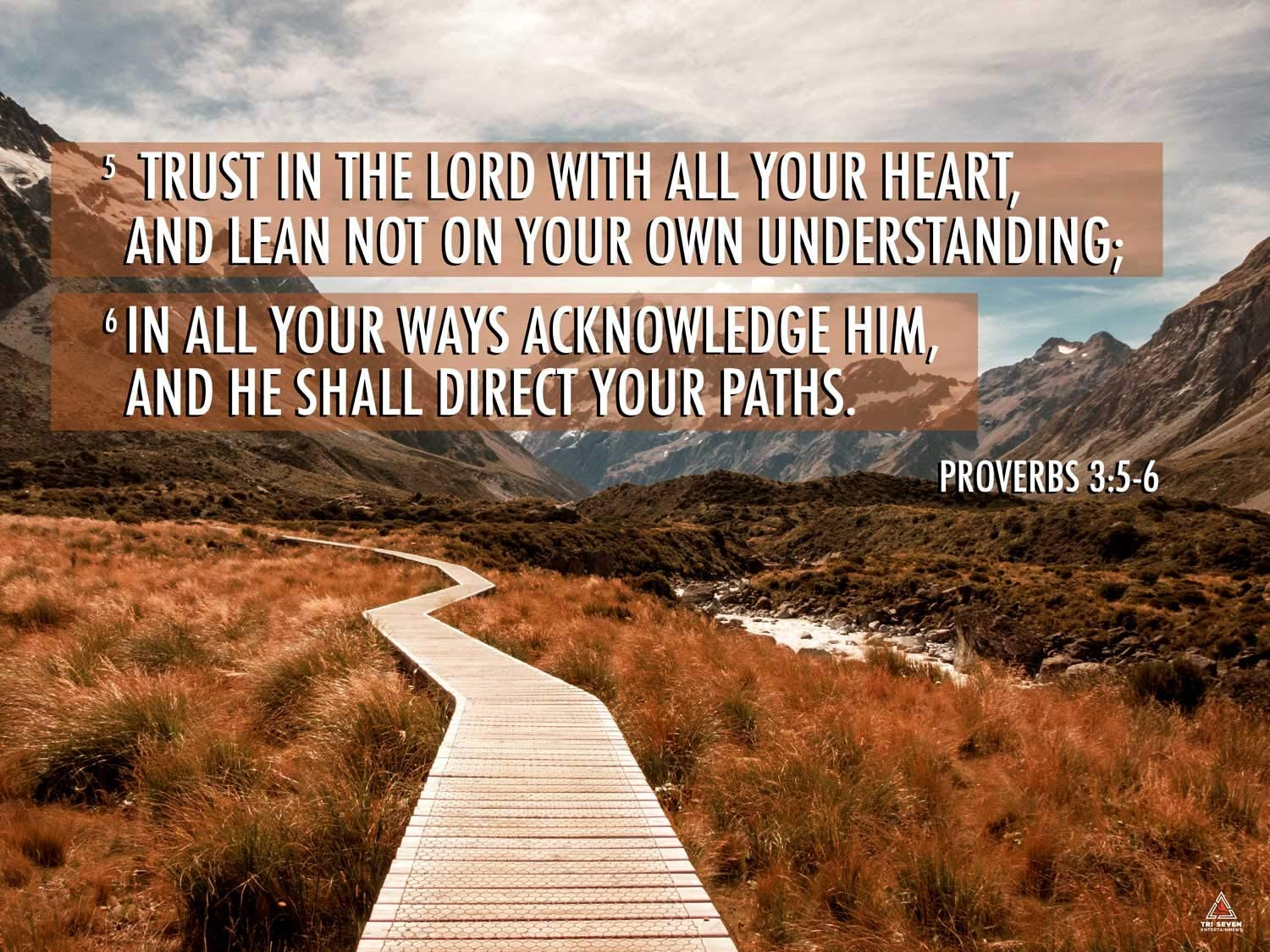 Amazon.com: Proverbs 3:5-6 Poster Trust in the Lord Bible Verse Quote Wall  Art (24x18): Posters & Prints