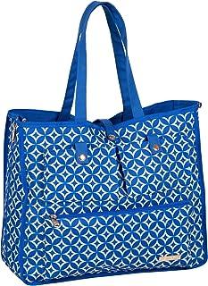 Jenni Chan Stars Reversible 2-in-1 Carry-All Tote, Handbag, Shoulder Bag, Blue, One Size