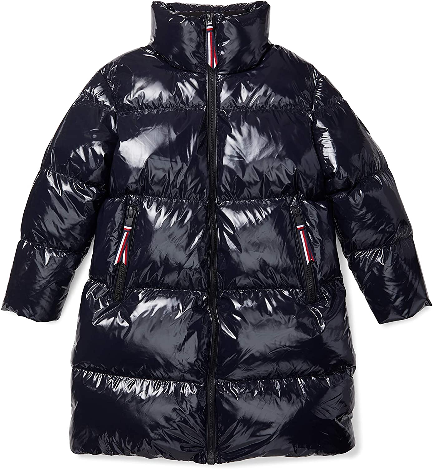 Tommy Hilfiger Women's Adaptive Icon Gifts Gloss Puffer Coat Down High Directly managed store
