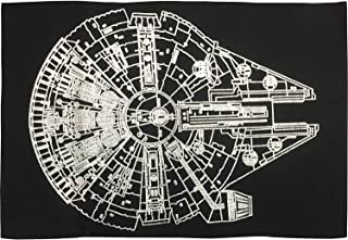 Star Wars Millennium Falcon Bath Rug, Black/Silver