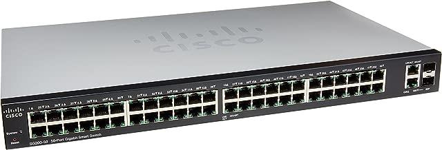 Cisco Small Business 200 Series SLM2048T-NA Smart SG200-50 Gigabit Switch 48 10/100/1000 Ports, Gigabit Ethernet Smart Switch, 2 Combo Mini-GBIC Ports
