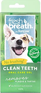 TropiClean Fresh Breath No Brushing Oral Care Gel for Pets - Made in USA - Removes Plaque & Tartar Without Brushing - Easy...