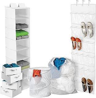 Honey-Can-Do BTS-01586 Back To School Home Organization Kit, White