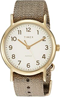 Timex Weekender 38 mm Metallic Gold Watch TW2R92300