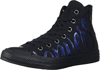 Converse Women's Chuck Taylor All Star Logo Print High Top Sneaker, Multi/Black, 8.5 M US