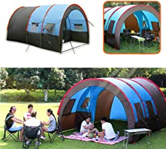 Camping Tent Waterproof - Camping Tent Tunnel - XD-ET4 Camping Tent 8-10 People Waterproof Double Layer Large Family Tent Sunshade (Large Tunnel Tent)