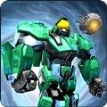 Green Robot Superhero