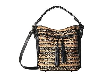 Patricia Nash Ebbe Woven Straw Otavia Bucket Bag (Black) Shoulder Handbags