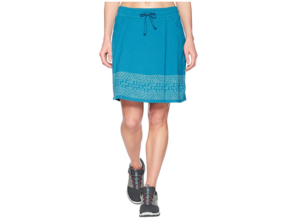 Toad&Co Tica Skirt (Deepwater Border Print) Women
