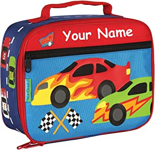 Personalized Stephen Joseph Race Car Themed Lunch Box With Name