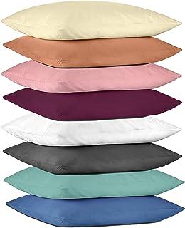 Juego de 2 fundas de almohada de microfibra | Pack doble de