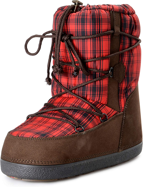 Moncler Women's Black Real Fur Winter Boots Shoes US