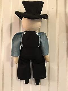 Primitive Farmhouse Amish Folk Art Doll Abraham