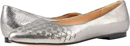 Silver Soft Embossed Metallic Leather