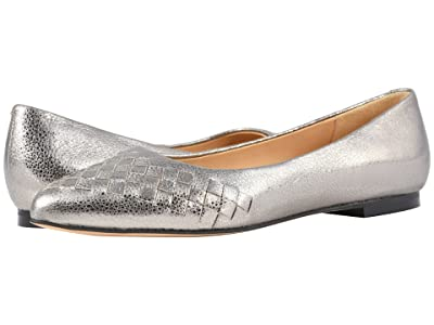 Trotters Estee Woven (Silver Soft Embossed Metallic Leather) Women