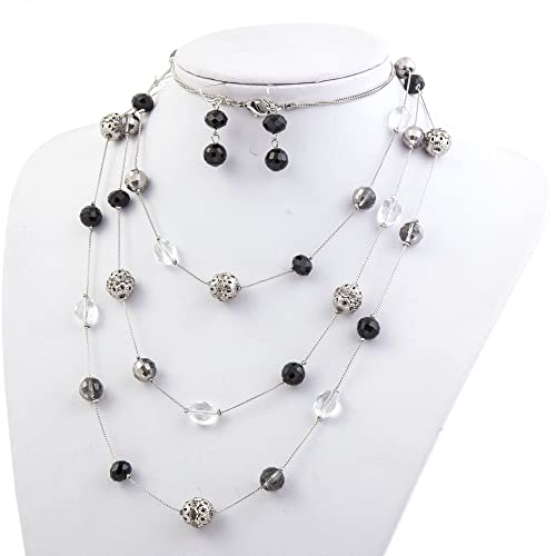 77f57221d0d85 Black and Silver Necklace: Amazon.com