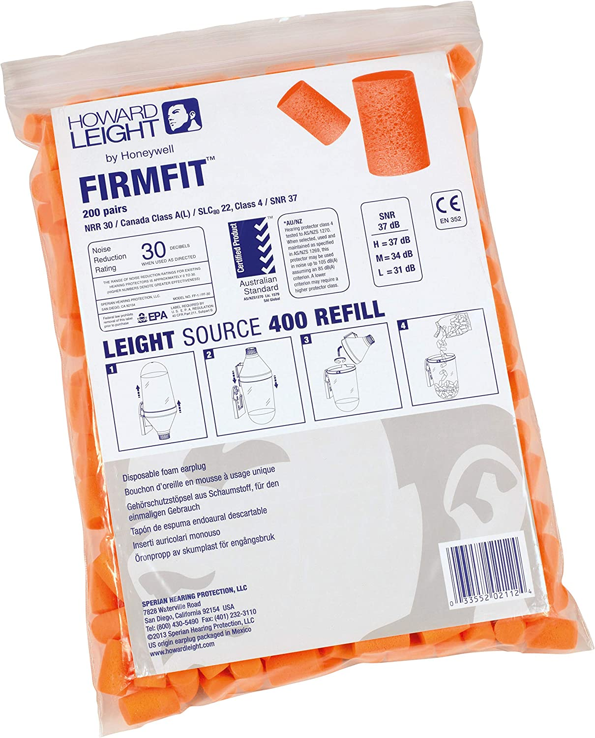Howard Leight National uniform Lowest price challenge free shipping by Honeywell FirmFit Sou for Refill Earplug