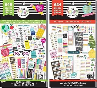 Big Happy Planner Teacher Back to School - Teachers Rule (648) and Teacher Functional (624) - 2 Sticker Value Packs