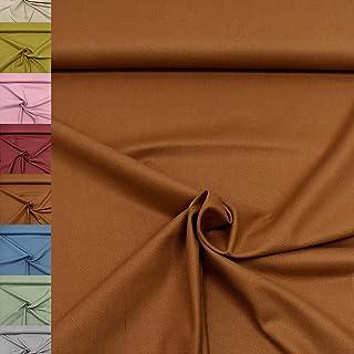 MAGAM-Stoffe Dylan weicher Canvas Baumwollstoff Kleidung Polsterstoff Meterware 50cm 05. Senf dunkel