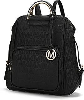 Mia K Collection PU Leather Backpack Purse for Women & Teen Girls - Ladies Fashion Travel - Big Bookbag Top-Handle