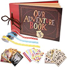 Our Adventure Book Scrapbook Photo Album Handmade DIY Scrapbook Album Expandable 80 Pages with Accessories Kit Wonderful Gift for Family Anniversary Wedding Birthday Thanksgiving Day (Movie Classic)