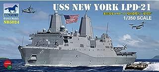 Bronco Models U.S.S. New York LPD-21 San Antonio-Class Amphibious Transport Dock Ship, Scale 1/350