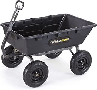 Gorilla Carts GOR10-16 Super Heavy Duty Poly Dump Cart, 1,500-pound Capacity, Black