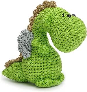 Vietsbay Green Dragon Handmade Amigurumi Stuffed Toy Knit Crochet Doll VAC