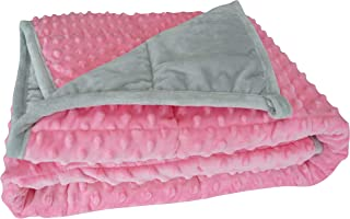 """Oileus Weighted Blanket for Kids 2.0 Version Newest One Piece Design Minky Dot-36""""x 48"""",5lbs for Little Kids- Children Heavy Blanket for Boys and Girls 40-60 lbs"""