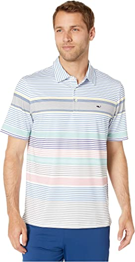 11c86199e9 Portsmouth Engineered Stripe Sankaty Polo. Vineyard Vines. Portsmouth  Engineered Stripe Sankaty Polo