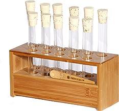 بلوک لوله آزمایشگاهی علوم آزمایشگاهی Spice Lab با 11 لوله آزمایش - عالی برای ادویه جات ترشی جات ، هنر ، صنایع دستی و علوم