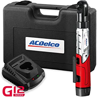 "ACDelco Cordless 3/8"" Ratchet Wrench 12V Angled 55 ft-lb Tool Set with 1 Batteries.."