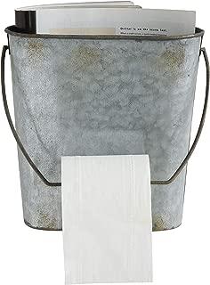 Creative Co-op Magazine & Toilet Paper Wall Tin Bucket
