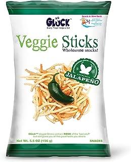 Glück Veggie Sticks Jalapeño 5.5oz Family Pack (Case with 8 Bags)