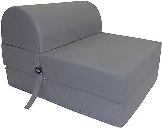 Chauffeuse convertible Tissu Gris 75 x 58 x 48 cm