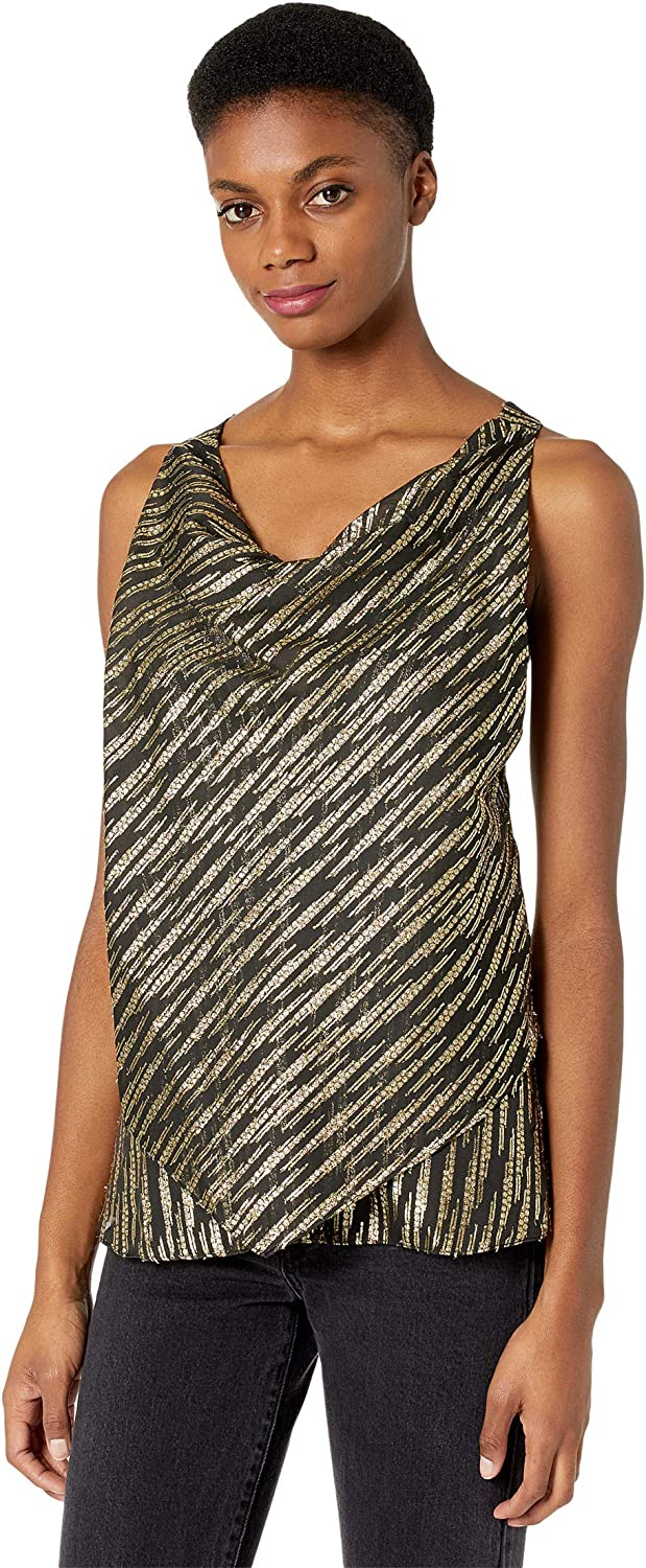 BCBGMAXAZRIA womens Sales results No. 1 Metallic Halter Top Directly managed store