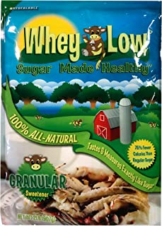Whey Low Sweetener Granular 32 ounce sugar substitute made with 100% natural ingredients - No aftertaste - No chemicals or...
