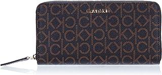 Calvin Klein Mono Zip around Wallet Lg Wallets, Card Cases & Money Organizers, Brown, 19 cm - K60K606560
