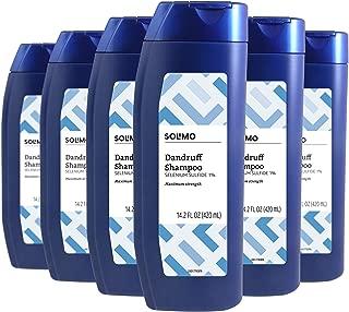 Amazon Brand - Solimo Advanced Solution Dandruff & Seborrheic Dermatitis Shampoo, Maximum Strength, 14.2 Fluid Ounce (Pack of 6)