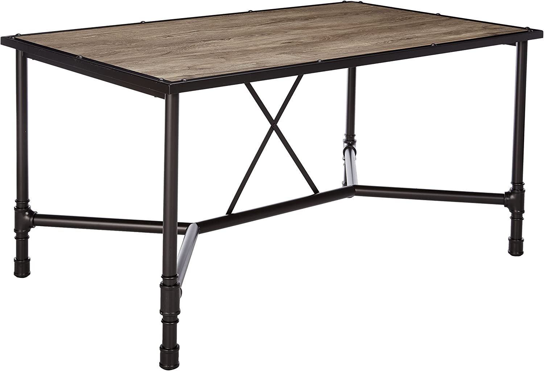 ACME Furniture Super-cheap 72035 Caitlin Virginia Beach Mall Dining Table Black Oak Rustic