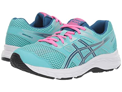ASICS Kids Gel-Contend 5 (Big Kid) (Ice Mint/Deep Sapphire) Girls Shoes