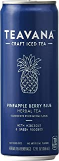 Teavana Craft Iced Tea, Pineapple Berry Blue Herbal Tea, 12 Fl. Oz. Cans (Pack Of 12)