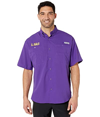 Columbia College LSU Tigers Collegiate Tamiamitm II Short Sleeve Shirt (Vivid Purple) Men