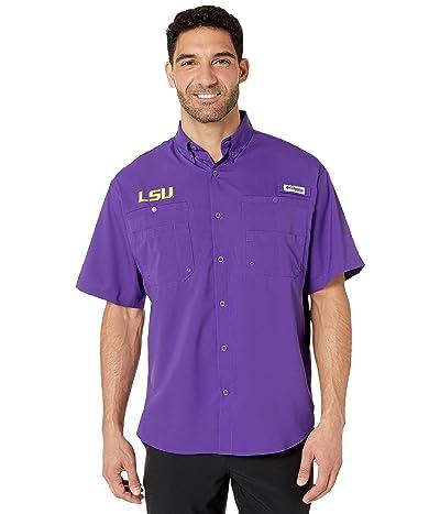 Columbia College LSU Tigers Collegiate Tamiami II Short Sleeve Shirt (Vivid Purple) Men