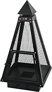 Mayer Barbecue HEIZA Cheminée de terrasse MFK-103 - Style grillagé et Forme pyramidale