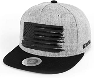 Premium USA American Flag 3D Printing Flat Brim Bill Baseball Cap Classic Snapback Hat for Men Women Version.2