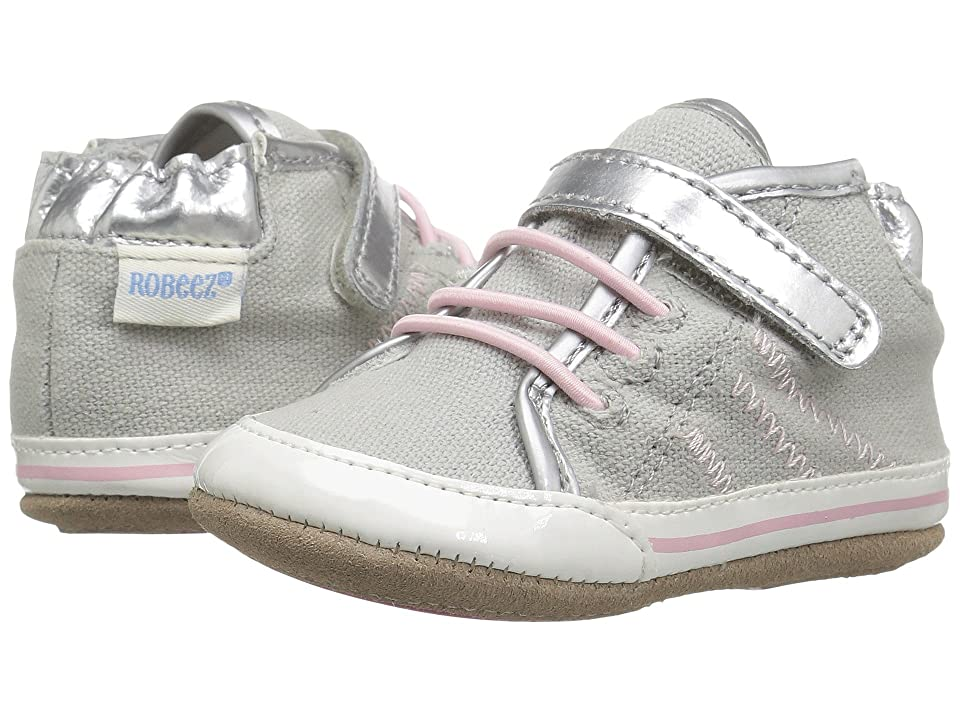 Robeez Hadley High Top Mini Shoez (Infant/Toddler) (Grey) Girl