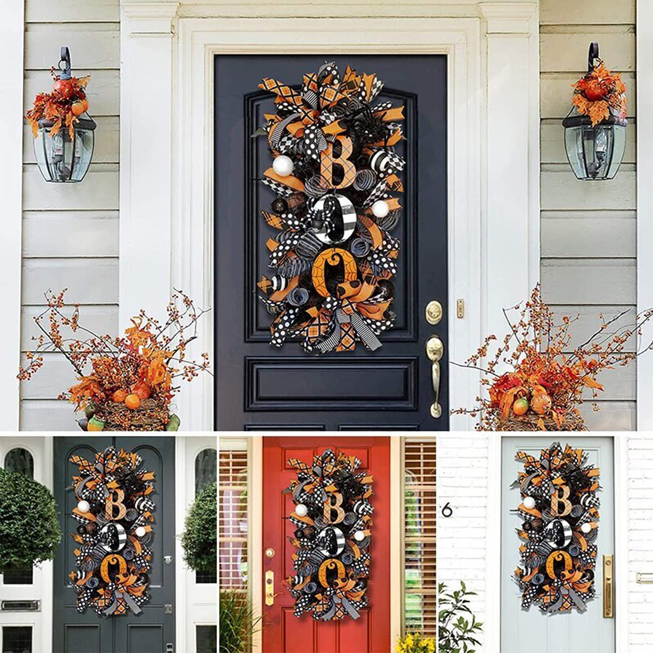 Halloween Swag Wreath New life Popular standard Fall 20 Inch Doo for Wreaths Front