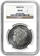 1878 S Morgan Dollar MS-63 NGC $1 MS-63 NGC