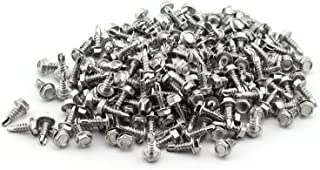 200 Pack Self-Drilling Dovetail Screws 410 Stainless Steel #8 1/2 Inches Hex Washer Head Tapping Screw Tek Screws